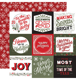Echo Park Salutations Christmas Paper: 4X4 Journaling Cards