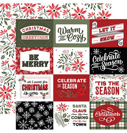Echo Park Salutations Christmas Paper: 4X3 Journaling Cards