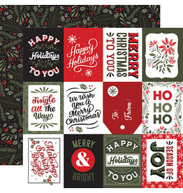 Echo Park Salutations Christmas Paper: 3X4 Journaling Cards