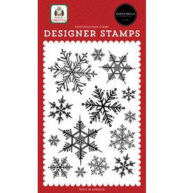 Carta Bella Home For Christmas:  Snowflake Season Stamp Set