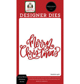 Carta Bella Home For Christmas:  Lettered Merry Christmas Die Set