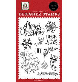 Carta Bella Home For Christmas:  Joy Stamp Set
