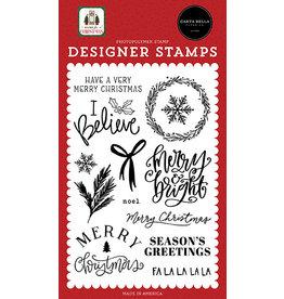Carta Bella Home For Christmas:  I Believe Stamp Set