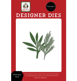 Carta Bella Home For Christmas:  Holiday Sprigs Die Set