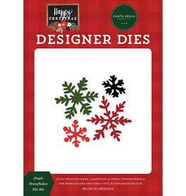 Carta Bella Happy Christmas: Jingle Snowflakes Die Set