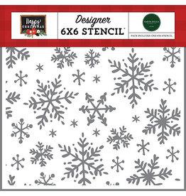 Carta Bella Happy Christmas: Happy Snowflakes Stencil