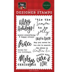 Carta Bella Happy Christmas: Enjoy The Season Stamp Set