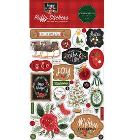 Carta Bella Happy Christmas:  Puffy Stickers