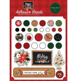 Carta Bella Happy Christmas:  Adhesive Brads