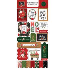 Carta Bella Happy Christmas:  6x13 Chipboard Phrases