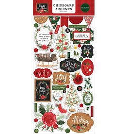 Carta Bella Happy Christmas:  6x13 Chipboard Accents
