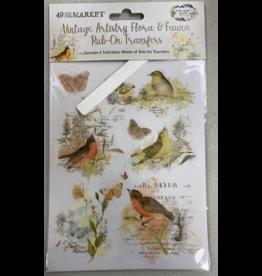 49 and Market Flora & Fauna Rub-on