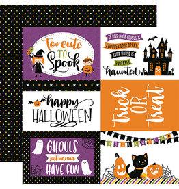 Echo Park Halloween Magic Paper: 6X4 Journaling Cards