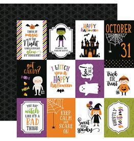 Echo Park Halloween Magic Paper: 3X4 Journaling Cards