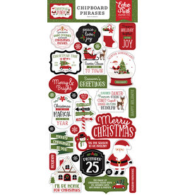 Echo Park Christmas Magic: 6x13 Chipboard Phrases