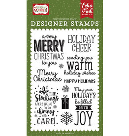 Echo Park Christmas Magic :Warm Holiday Wishes Stamp Set