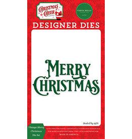 Carta Bella Christmas Cheer: Vintage Merry Christmas Die Set