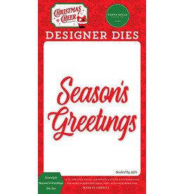Carta Bella Christmas Cheer: Nostalgic Season's Greetings Die Set