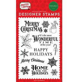 Carta Bella Christmas Cheer: Most Wonderful Time Stamp Set
