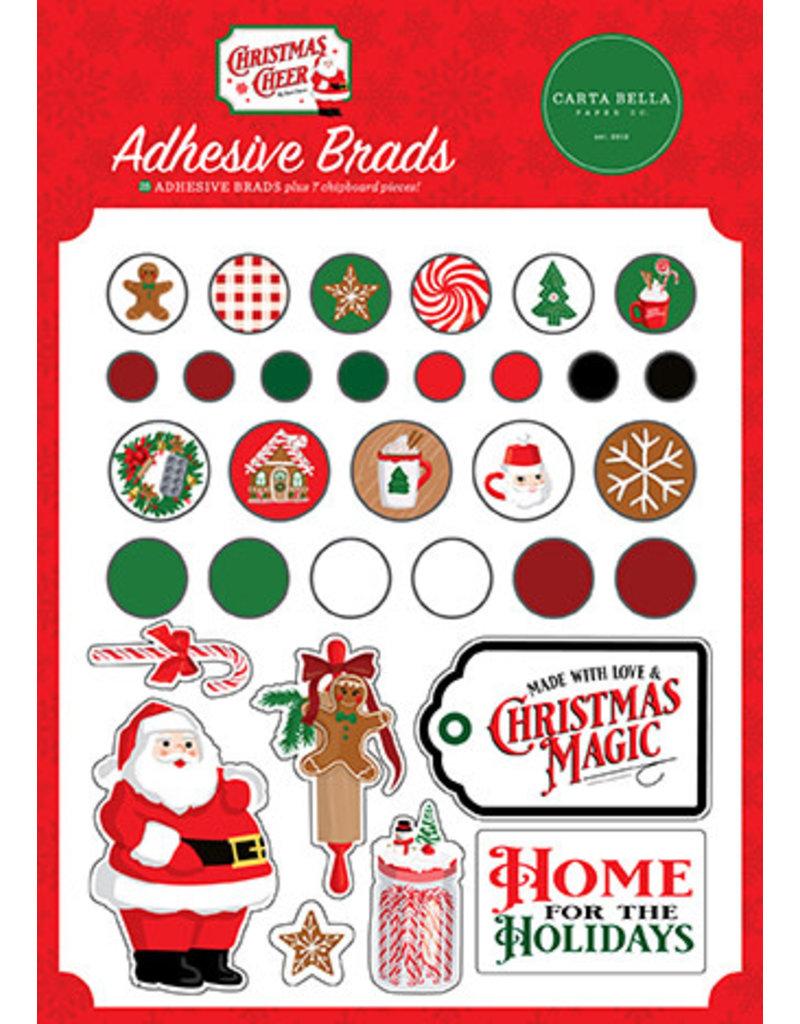 Carta Bella Christmas Cheer:  Adhesive Brads