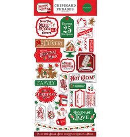 Carta Bella Christmas Cheer:  6x13 Chipboard Phrases