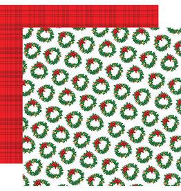 Carta Bella Christmas Cheer Paper: Wreath Wonderland