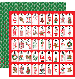 Carta Bella Christmas Cheer Paper: Just For You Tags