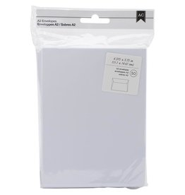 american crafts A2 White envelopes