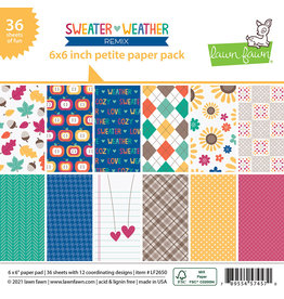 lawn fawn sweater weather remix - 6x6 petite paper pad