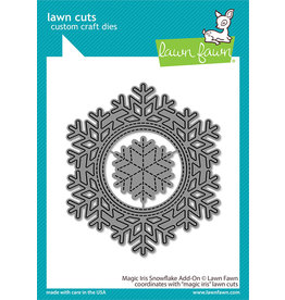 lawn fawn magic iris snowflake add-on dies