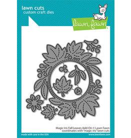 lawn fawn magic iris fall leaves add-on dies