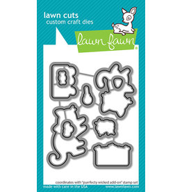 lawn fawn purrfectly wicked add-on lawn dies