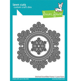 lawn fawn stitched snowflake frame dies