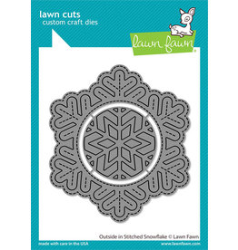 lawn fawn outside in stitched snowflake dies