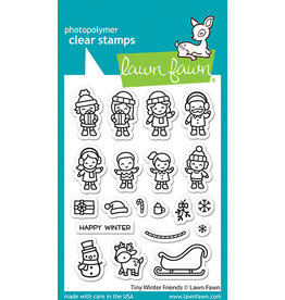 lawn fawn tiny winter friends stamp