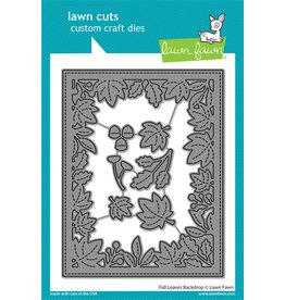 lawn fawn fall leaves backdrop dies