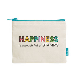 lawn fawn zipper pouch - happiness is a pouch full of stamps