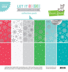 lawn fawn let it shine snowflakes - collection pack