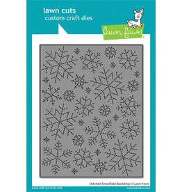 lawn fawn stitched snowflake backdrop dies