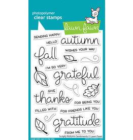 lawn fawn scripty autumn sentiments stamp
