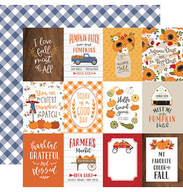 Echo Park Fall Paper: 3X4 Journaling Cards