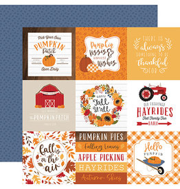 Echo Park Fall Paper: 4X4 Journaling Cards