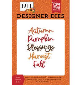 Echo Park Fall: Autumn Blessings Die Set