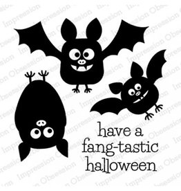Impression Obsession Bat Trio Stamp