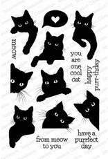 Impression Obsession Black Cat Love Stamp