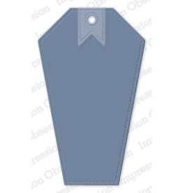 Impression Obsession Stitched Coffin Tag Die