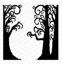 Impression Obsession Cover-a-Card Creepy Trees Stamp
