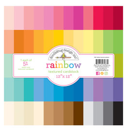 DOODLEBUG Rainbow Textured Cardstock 51pk
