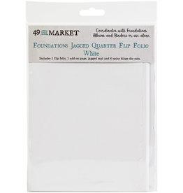 49 & Market Jagged Quarter Flip Folio: White