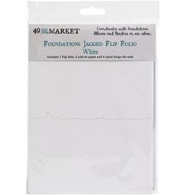 49 & Market Jagged Flip Folio: White